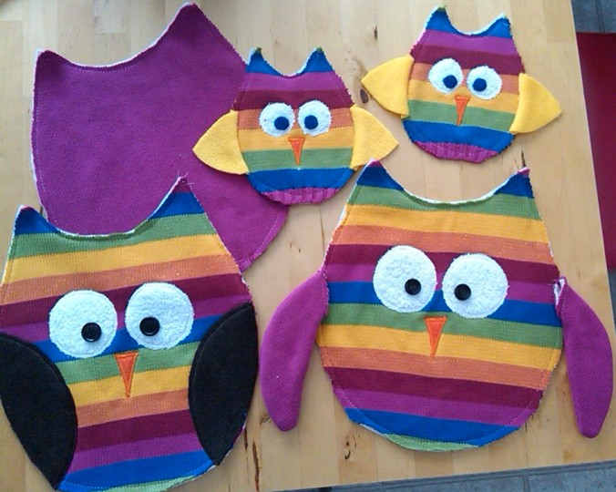 Upcycled Stuffed Owls | www.jenniferdyck.com